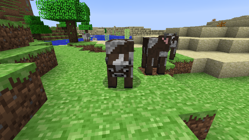 What does a cow eat in minecraft